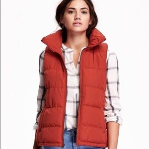 Old Navy Shindig Red Saffron Quilted Puffer Vest